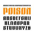 stencil-plate narrow sanserif font vector image