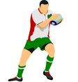 al 1104 rugby 02 vector image vector image