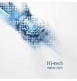 Blue grunge hi-tech background vector image vector image