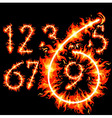 red hot numbers vector image vector image