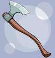 Old ax with the pattern vector image