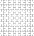Seamless pattern of delicate grey lines on white vector image