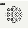 Black and white abstract design element vector image