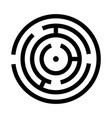 circle maze or labyrinth vector image