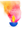 creative diwali festival background with colors vector image
