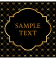 Golden Frame on Damask black Background vector image