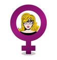 happy womens day gender symbol vector image