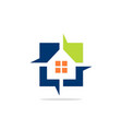 house square abstract logo vector image