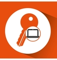 laptop password secure key icon vector image