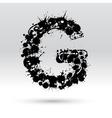 Letter G formed by inkblots vector image