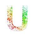 Music theme grungy font Letter U vector image