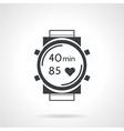 Sport watch black icon vector image