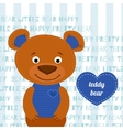 Teddy bear brown vector image