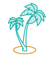 tree palm beach isolated icon vector image