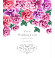 wedding card template greeting card or vector image