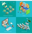 Isometric Educational Concept University Computer vector image
