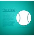 Baseball ball flat icon on blue background vector image