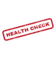 Health Check Text Rubber Stamp vector image