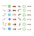 colorful arrows icon set vector image