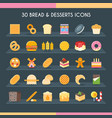bread and pastry set vector image