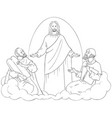 transfiguration of jesus christ coloring page vector image vector image