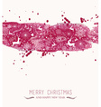Watercolor Christmas banner seamless pattern vector image