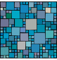 Random squares background vector image