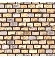 Brick wall on dark seamless pattern drawing vector image