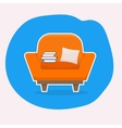 Chair with white stroke vector image