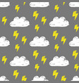clouds lightning pattern vector image