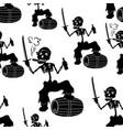 jolly roger skeleton seamless vector image