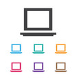 of notebook symbol on laptop vector image