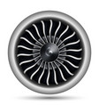 realistic 3d turbo-jet engine of airplane vector image
