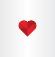 red heart background love icon vector image