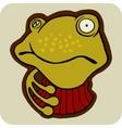 vector cartoon of winter frog vector image