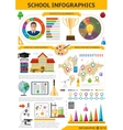 School Infographics Template vector image