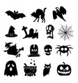 Halloween icon isolated on white background art vector image