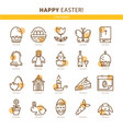 flat icons easter vector image