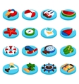 Holiday vacation isometric set vector image
