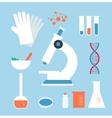 desktop medical laboratory vector image vector image