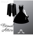 Formal attire vector image