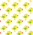 yellow chicken on white background seamless vector image