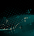 Winter background Christmas decoration vector image vector image