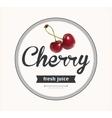 cherry juice Detailed label vector image