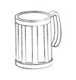 glass mug empty beverage drink icon vector image