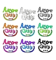 Hand drawn awesome quality labels icon set vector image