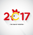Happy New Year 2017-The year of rooster concept vector image