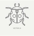 line flat plain wildlife fauna icon dot vector image