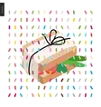 Sandwich and a pattern vector image