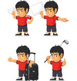 Soccer Boy Customizable Mascot 16 vector image